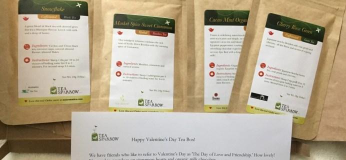 Tea Sparrow February 2016 Subscription Box Review
