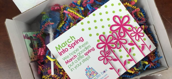 Boodle Box March 2016 Subscription Box Review