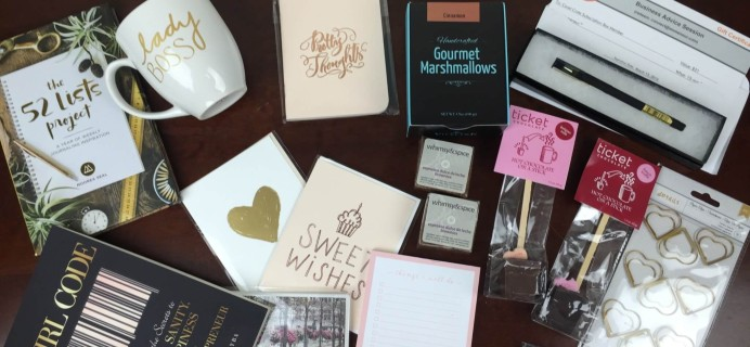 Covet Crate February 2016 Subscription Box Review + 25% Off Coupon