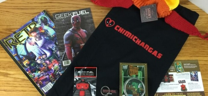 Geek Fuel February 2016 Subscription Box Review & Coupon