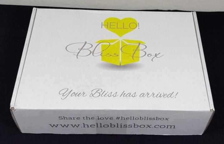 hello bliss february 2016 box