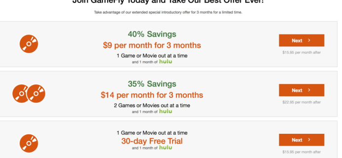 GameFly Free Trial & Free Hulu + Best Subscription Offer Ever!