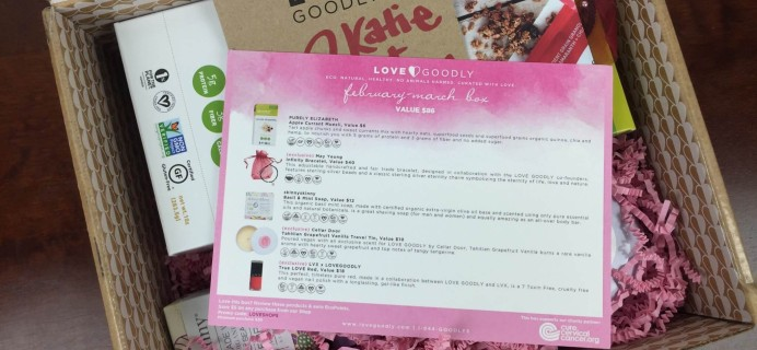 Love Goodly February-March 2016 Vegan Subscription Box Review + Coupon