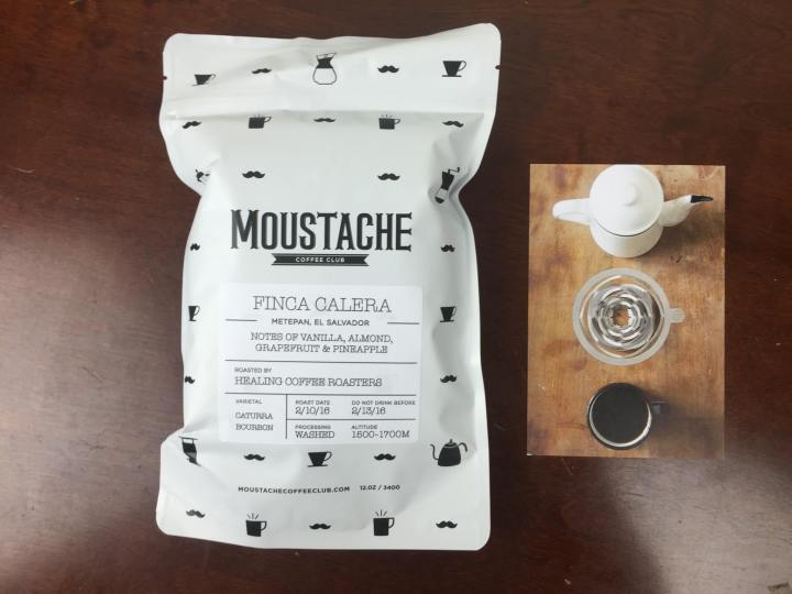 moustache coffee club february 2016 unboxing
