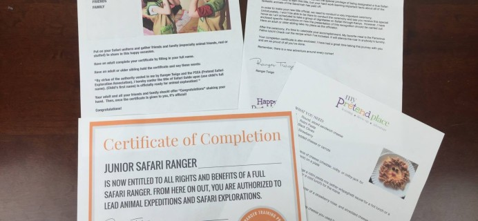 My Pretend Place Safari Dress-Up Box Month 3 Review & Coupon