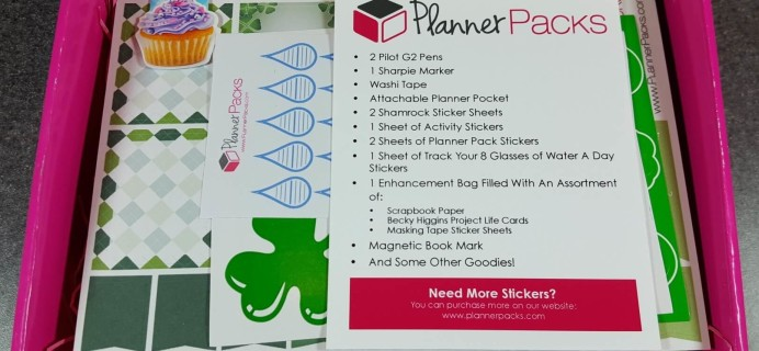 Planner Packs February 2016 Subscription Box Review & Coupon