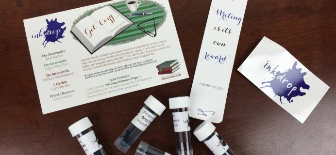 Goulet Pens Ink Drop Subscription Review – January 2016