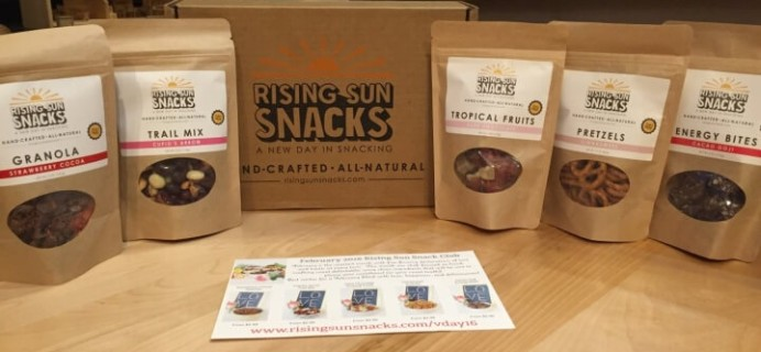 Rising Sun Snacks February 2016 Subscription Box Review + 50% Off Coupon