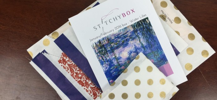 Stitchy Box January-February 2016 Subscription Box Review & Coupon