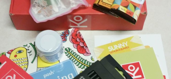 Konenkii Spring 2016 Subscription Box Review & Coupon
