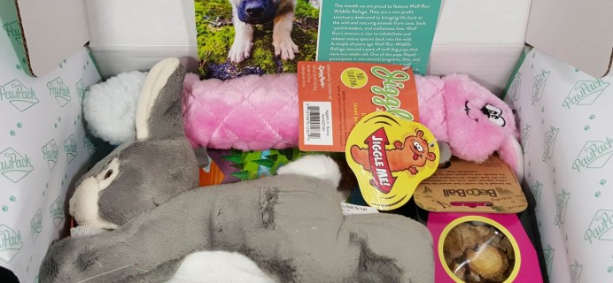 PawPack Dog Subscription Box Review – March 2016