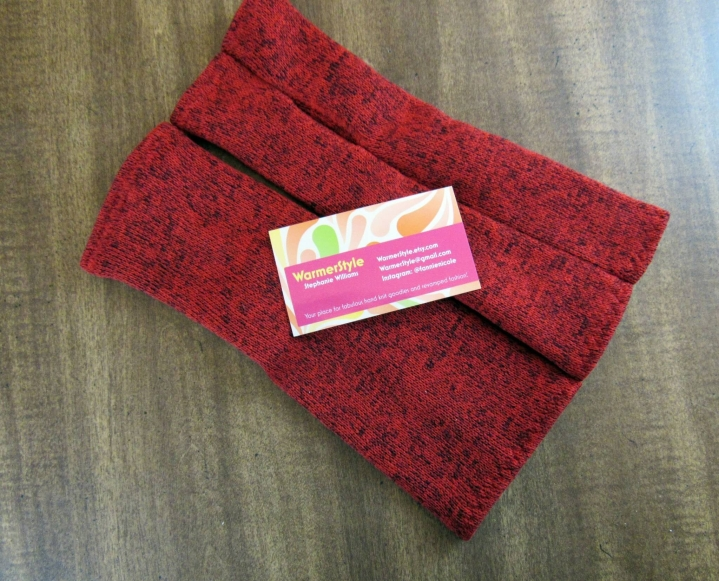 Red Fingerless Gloves by Warmer Style