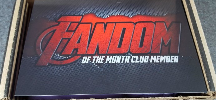 Fandom of the Month Club March 2016 Subscription Box Review