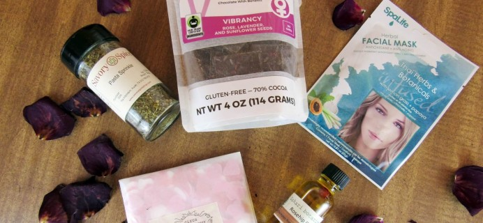 Herbal Bliss Subscription Box Review – February 2016