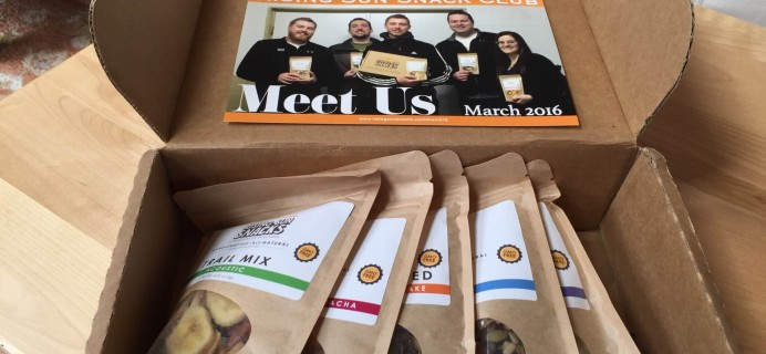 Rising Sun Snacks March 2016 Subscription Box Review + 50% Off Coupon