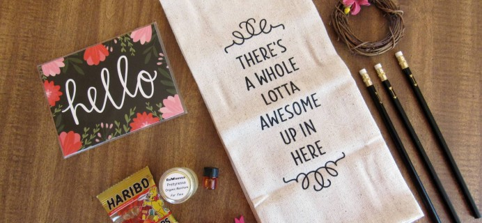 Joyfully Boxed Subscription Box Review – March 2016