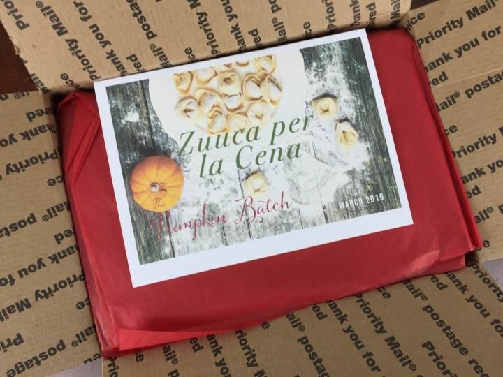 Pumpkin Batch Box March 2016 box