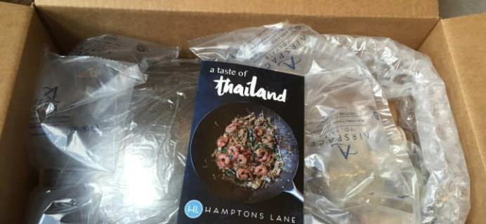 Hamptons Lane Taste of Thai March 2016 Subscription Box Review & $10 Coupon