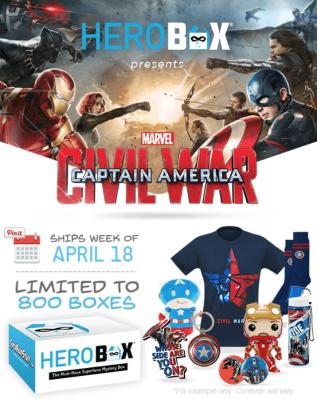 HeroBox Captain America: Civil War Mystery Box Now Available!