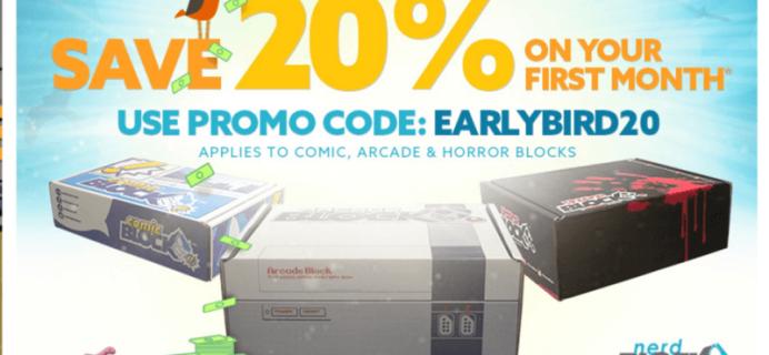 20% Off First Arcade Block, Comic Block or Horror Block Coupon + June 2016 Spoilers