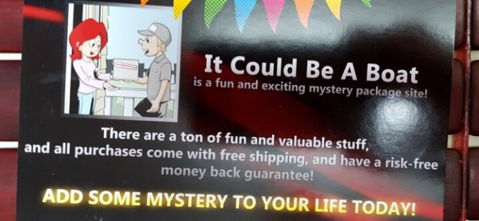 It Could Be A Boat Mystery Box Subscription Review & 50% Off Coupon