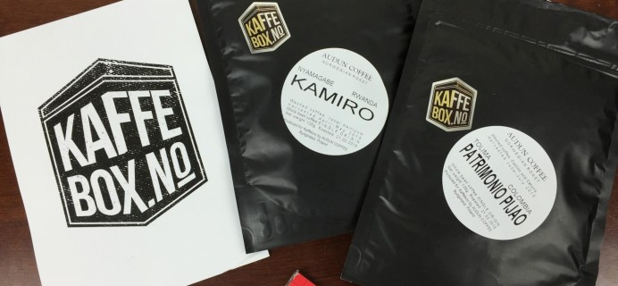 KaffeBox Subscription Box Review – March 2016