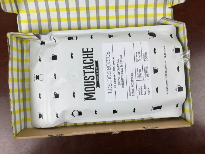 moustache coffee club march 2016 unboxing