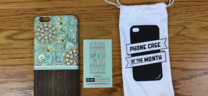 Phone Case of the Month Subscription Review + Half Off Coupon – March 2016