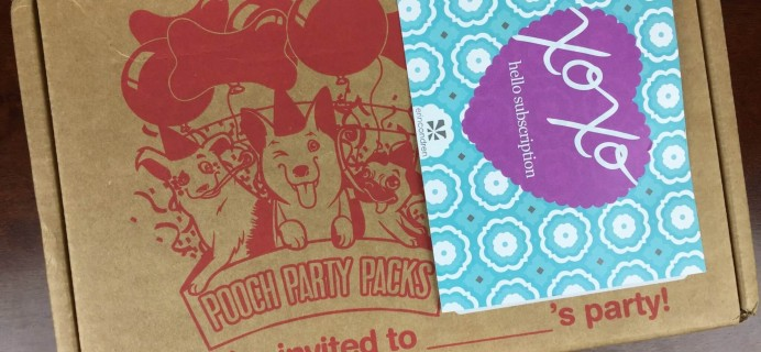 Pooch Party Packs March 2016 Subscription Box Review & Coupon
