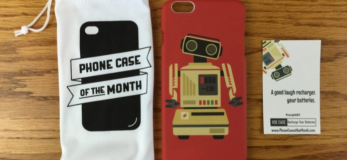 Phone Case of the Month Subscription Review + Half Off Coupon – April 2016