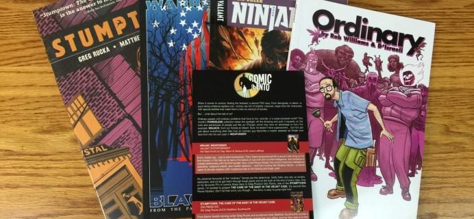Comic Bento April 2016 Subscription Box Review & Coupon