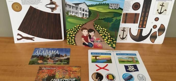 Little Passports USA Subscription Box Review – Alabama & Connecticut