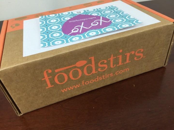 Foodstirs Box April 2016 box