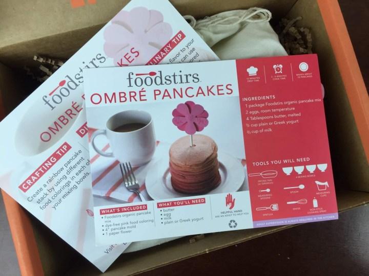 Foodstirs Box April 2016 unboxing