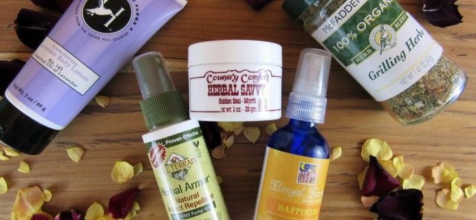 Herbal Bliss Subscription Box Review – April 2016