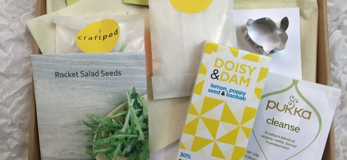 Craftpod Spring 2016 Subscription Box Review