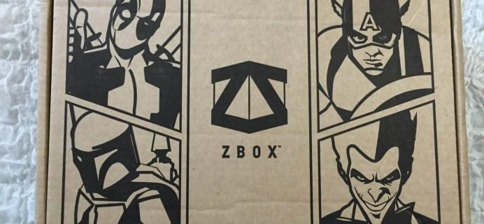 ZBOX April 2016 Subscription Box Review