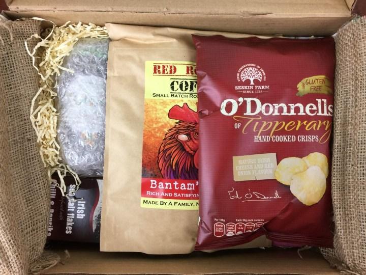Irish Taste Club Box April 2016 unboxed