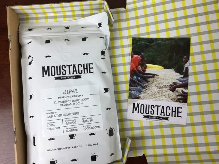Moustache Coffee Club April 2016 review