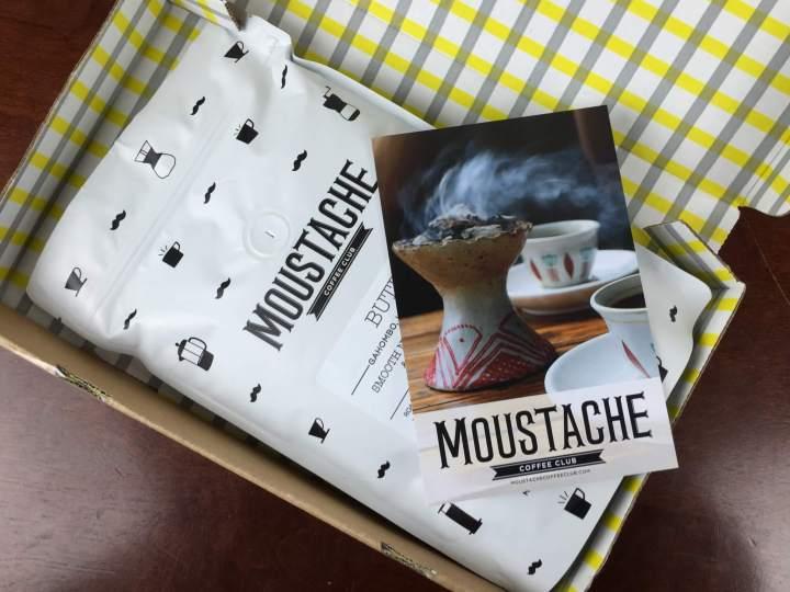 Moustache Coffee Club Box April 2016 unboxing
