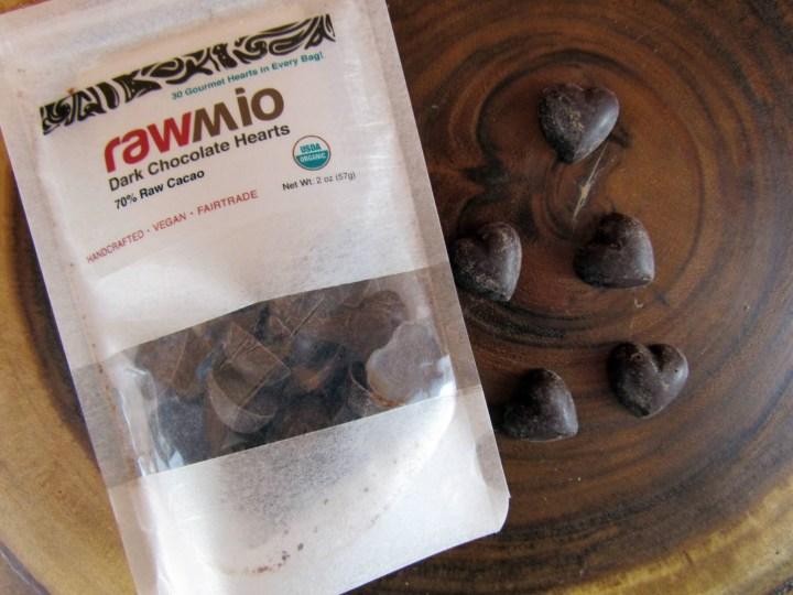 Rawmio Dark Chocolate Hearts