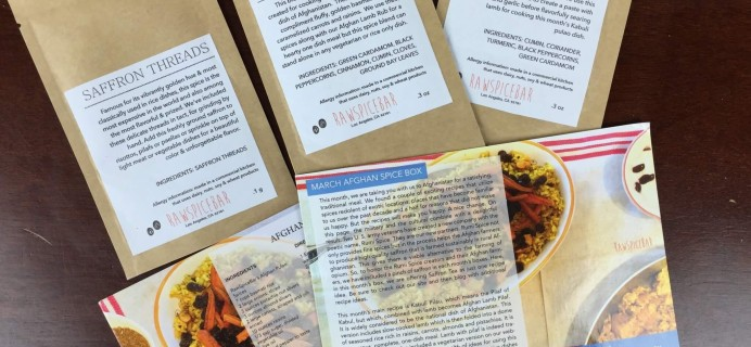 March 2016 RawSpiceBar Spice Subscription Review & Coupon