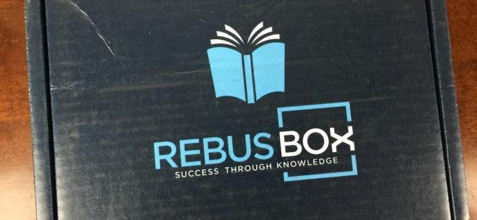 RebusBox April 2016 Subscription Box Review & Coupon