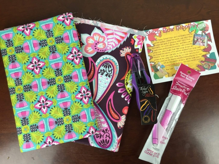 Stitch Box Monthly March 2016 review