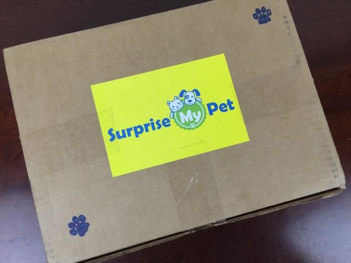 Surprise My Pet Box April 2016 box