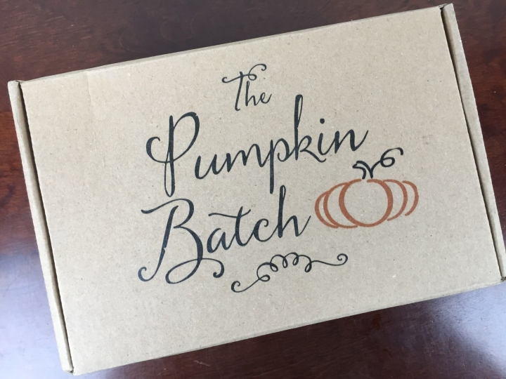 The Pumpkin Batch Box April 2016 box