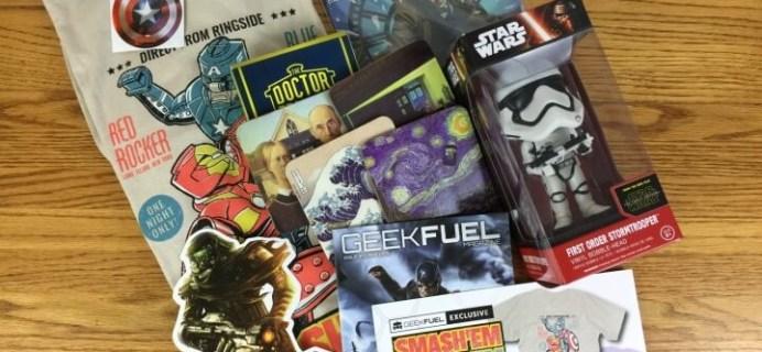 Geek Fuel April 2016 Subscription Box Review & Coupon