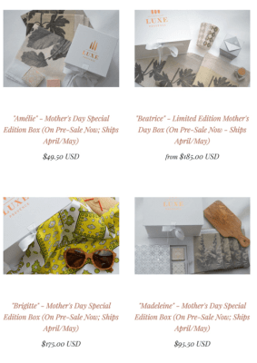 Luxe Provence Mother's Day Gift Boxes Now Available