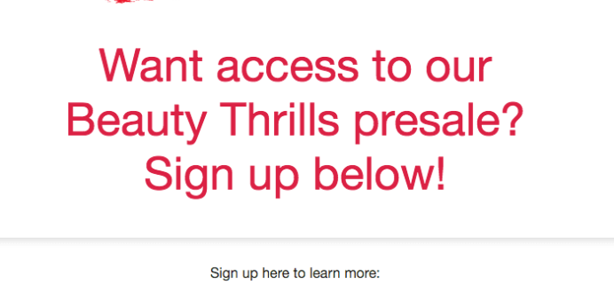 Allure Beauty Thrills Box Presale Starts Monday!