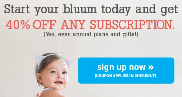 Bluum Mother's Day Coupon – 40% off All Subscriptions!